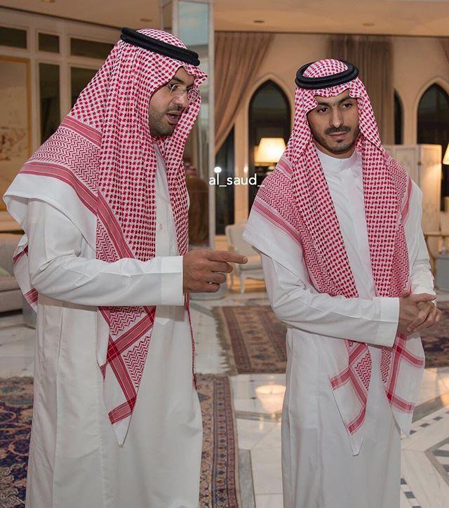 الأمير عبدالرحمن بن تركي بن عبدالعزيز والأمير فهد بن خالد بن سلطان بن عبدالعزيز Arabes