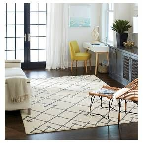 threshold kenya fleece area rug cream target
