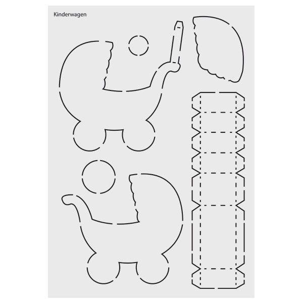 """DesignSchablone Nr. 7 """"IgelBox"""", DIN A4 Schablonen"""