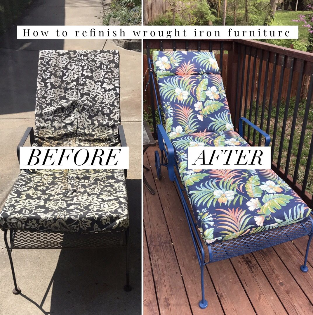 How to do refinish wrought iron patio furniture in 2020 ...