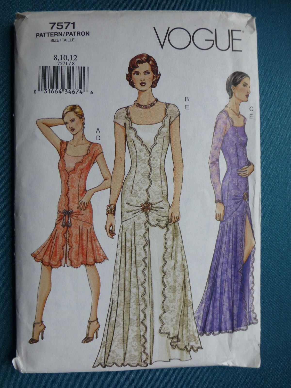 Bildergebnis Für Schnittmuster Gatsby Vogue Pattern 7571 Ed Evening Dress Very Great