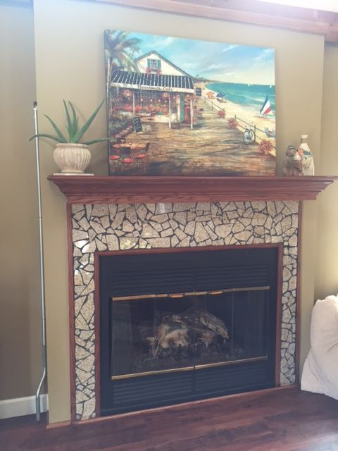 I Refaced The Fireplace Surround Using Broken Granite Pieces
