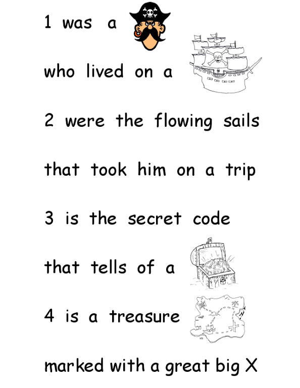Pirate Poempdf Education Pinterest Pirates Pirate Theme And