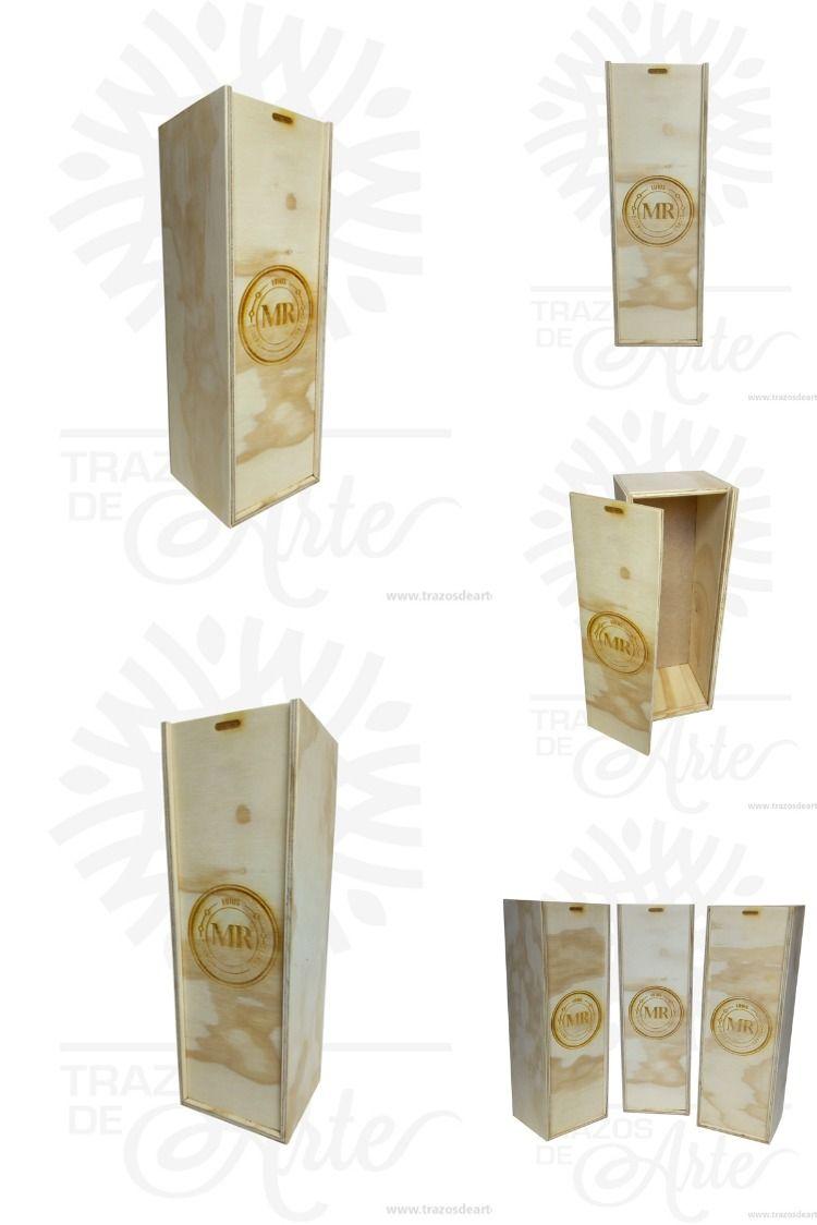 Caja De Vino En Triplex De Pino Para Personalizar 22 000 Precio Cop Botellas De Licor Caja De Vino Cajas De Vino