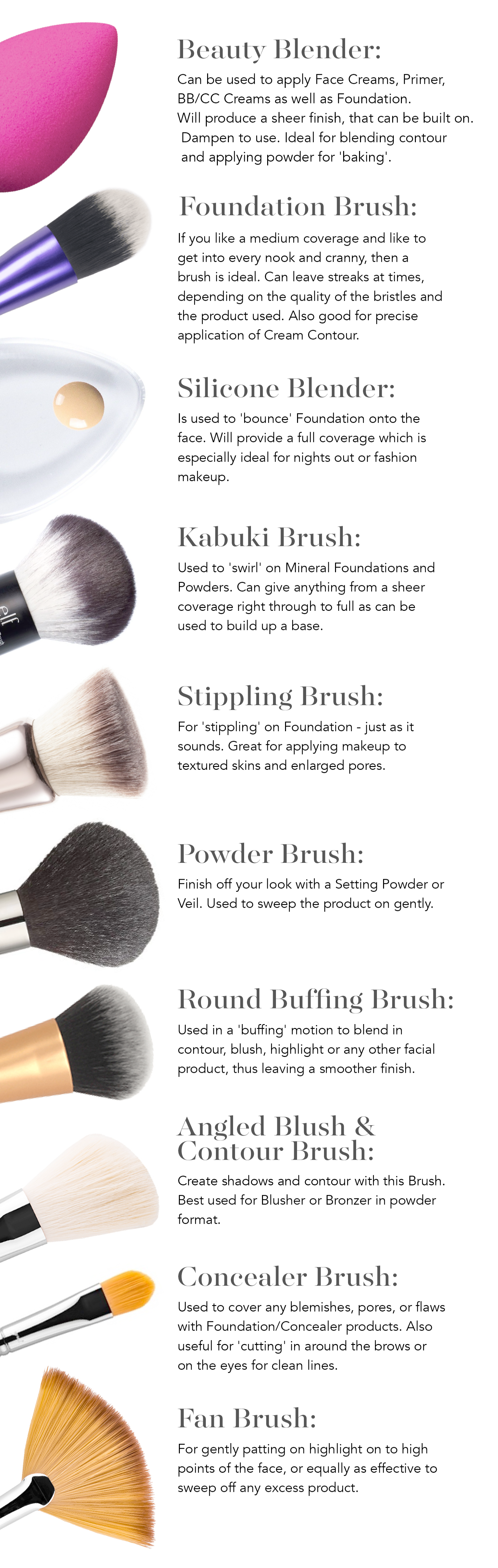 Makeup Accessories Pictures With Names Makeup Tools And Equipment List Makeup Brushes Guide Top Makeup Products Skin Makeup