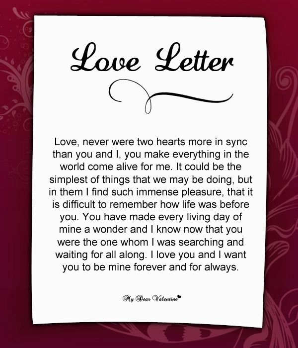 Funny love letters to girlfriend