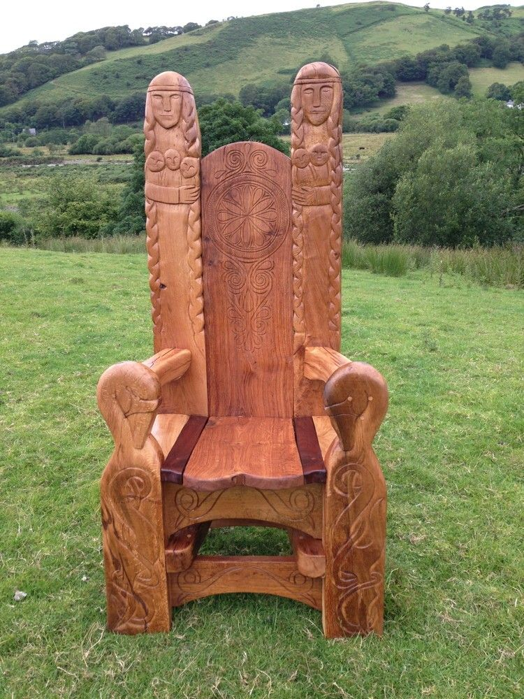 Oak Wedding Thrones Chair Vikings Reclaimed Wood Furniture