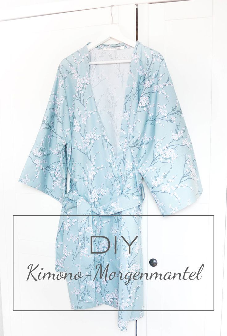 DIY Kimono-Morgenmantel nähen | Kimono morgenmantel, Morgenmantel ...
