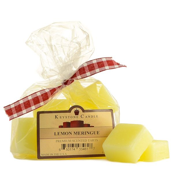 <h4>About Wax Melts</h4> This 10 piece bag of strong scented Lemon Meringue wax melts will keep your home smelling great for weeks. Place 1 or more of the square melt pieces into your tart burner to begin experiencing the delightful fragrance. Use our wax tarts as an alternative to burning a candles especially in dormrooms, hotels, offices, or unattened rooms%2...
