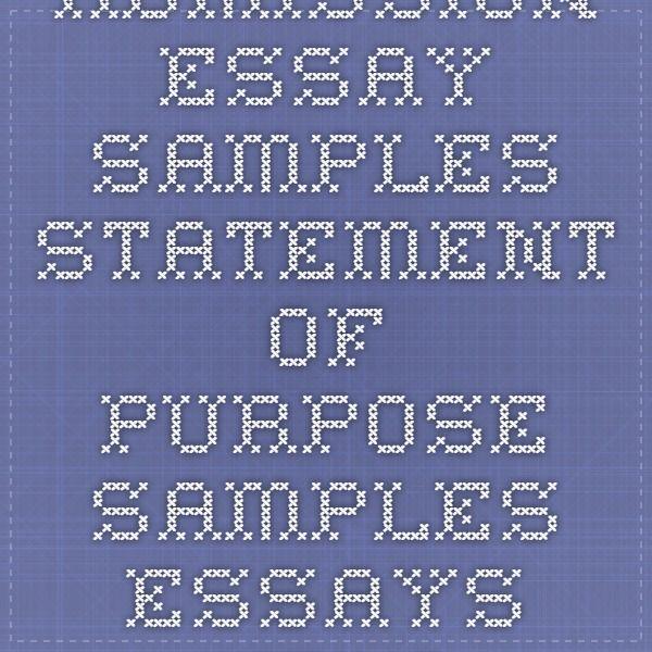 Admission essay samples - Statement of purpose samples essays help at EssayEdge.com