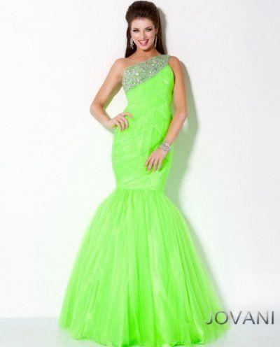 Neon Mermaid Prom Dress