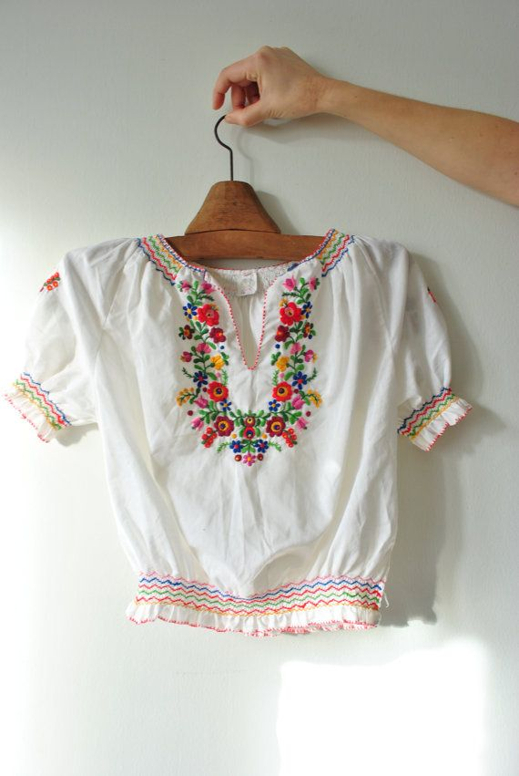 Peasant blouse Hungarian blouse peasant blouse by BalthazarVintage