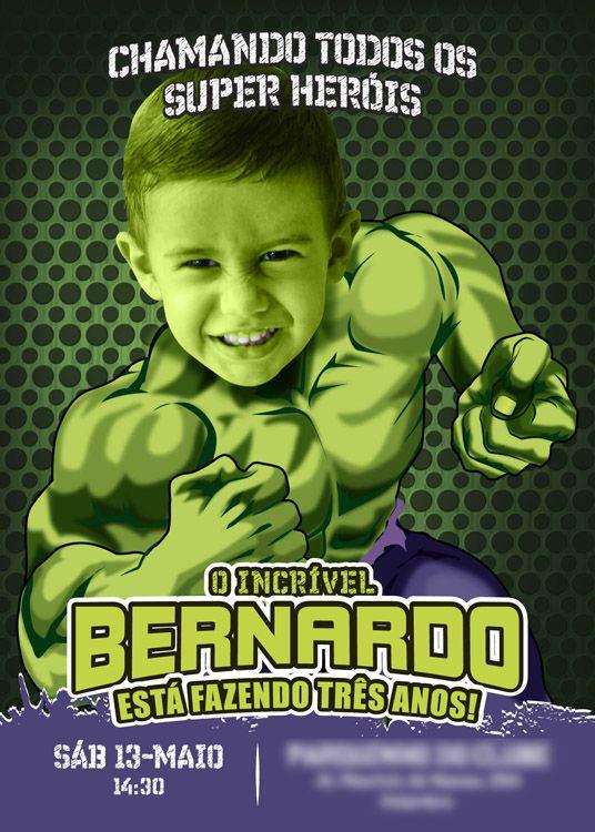 Turn Your Boy Into Hulk A Nice Sample In Portuguese Hulk Invitation Incredible Hulk Birthd Pool Party Birthday Invitations Hulk Birthday Pool Birthday Party
