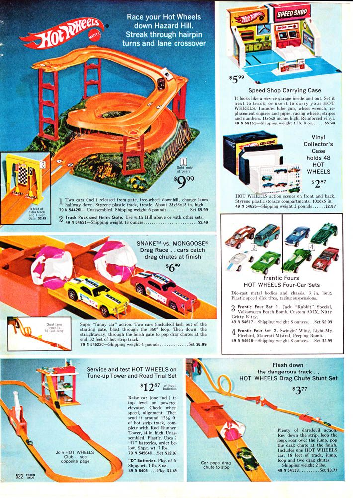 Hot Wheels Sears 1970 Hot Wheels Track Mattel Hot Wheels Hot Wheels Toys