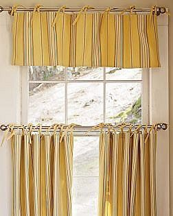 Awesome PB Hudson Stripe Yellow Cafe Curtains.