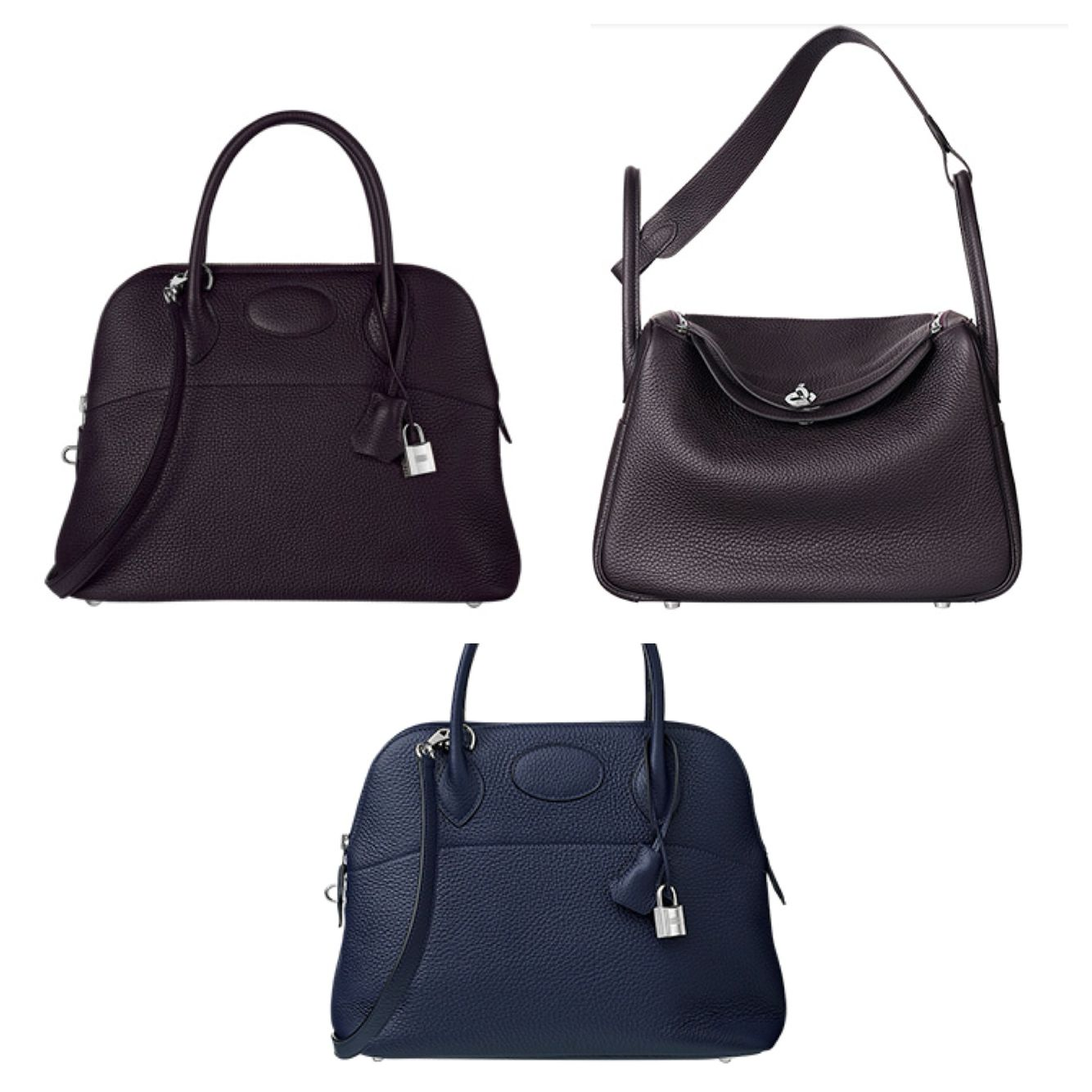 ba170f980ec1 4e065 ea6d6  purchase beautiful bag colours by hermes night blue and dark  plum eb6f0 7cad2
