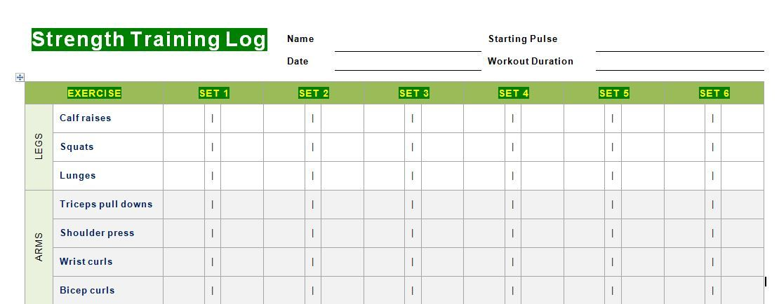 Take The Daily Strength Training Log To Gym And Try Recording Your