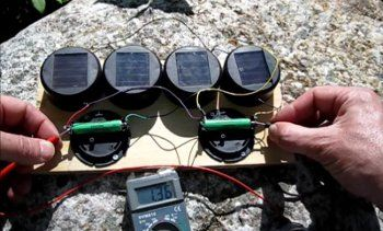 DIY Solar Powered battery charger using 4 Dollar Store Solar