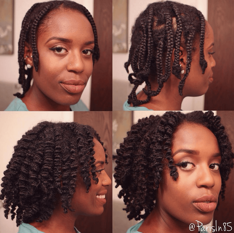 A Beautiful Braid Out With Small Braids For You Natural Hair