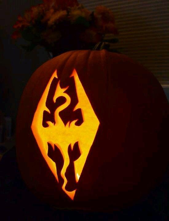 pumpkin template gaming  Skyrim pumpkin in 7 | Pumpkin carving, Pumpkin carving ...