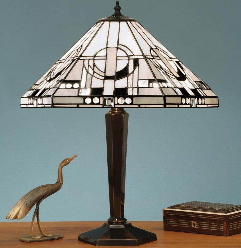 Metropolitan Cast Brass Base Art Deco Style Tiffany Table