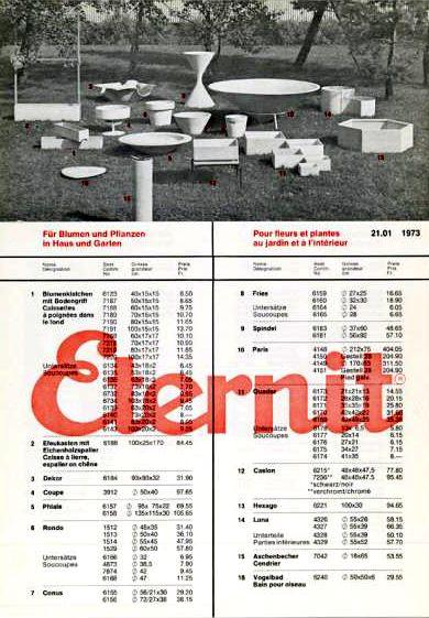 mobilier de jardin vintage Suisse en Eternit fibrociment | Eternit ...