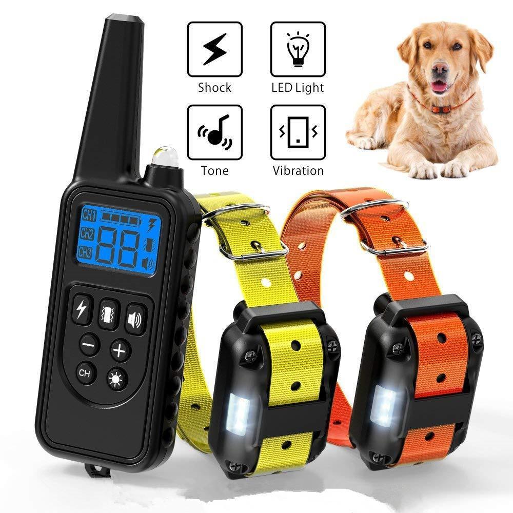 Dog Shock Collar 800m In 2020 Dog Shock Collar Training Collar