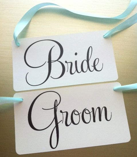 bride and groom chair signs from bellajenna traci s wedding