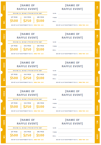 Free Printable Raffle Ticket Templates  Free Printable Event Tickets