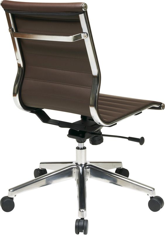 Mid Back Chocolate Eco Leather Chair, 73638 By Office Star Products |  BizChair.com