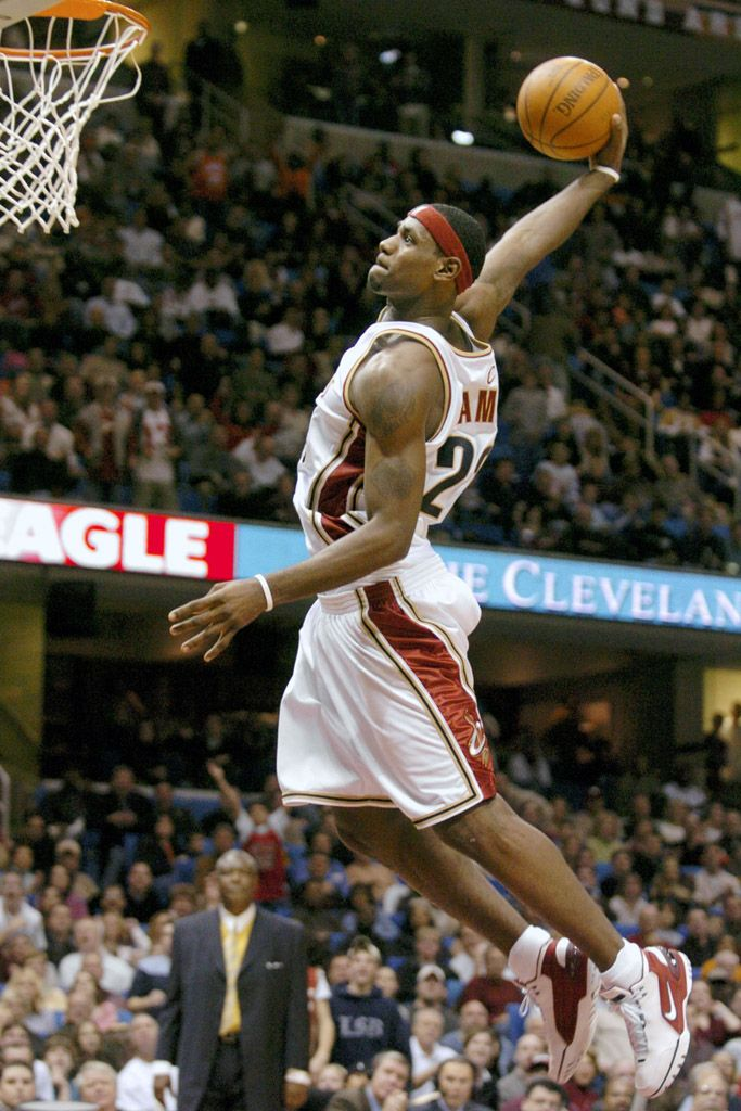 100% authentic 7836d a33f5 LeBron James wears the Nike Air Zoom Generation in 2003.