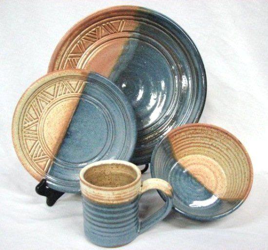 Southwest Ranchero 16 Pc Stoneware Dinnerware Set