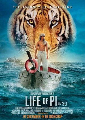 Life of Pi, 2012. A visual masterpiece, beautifully adapted from the book by Yann Martel. I love the ending to this story.