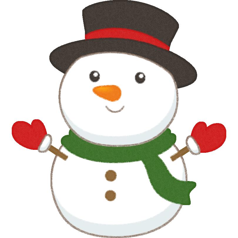可愛い雪だるま(スノーマン)のイラスト | サンタクロースイラスト, サンタクロース イラスト かわいい, クリスマス 漫画