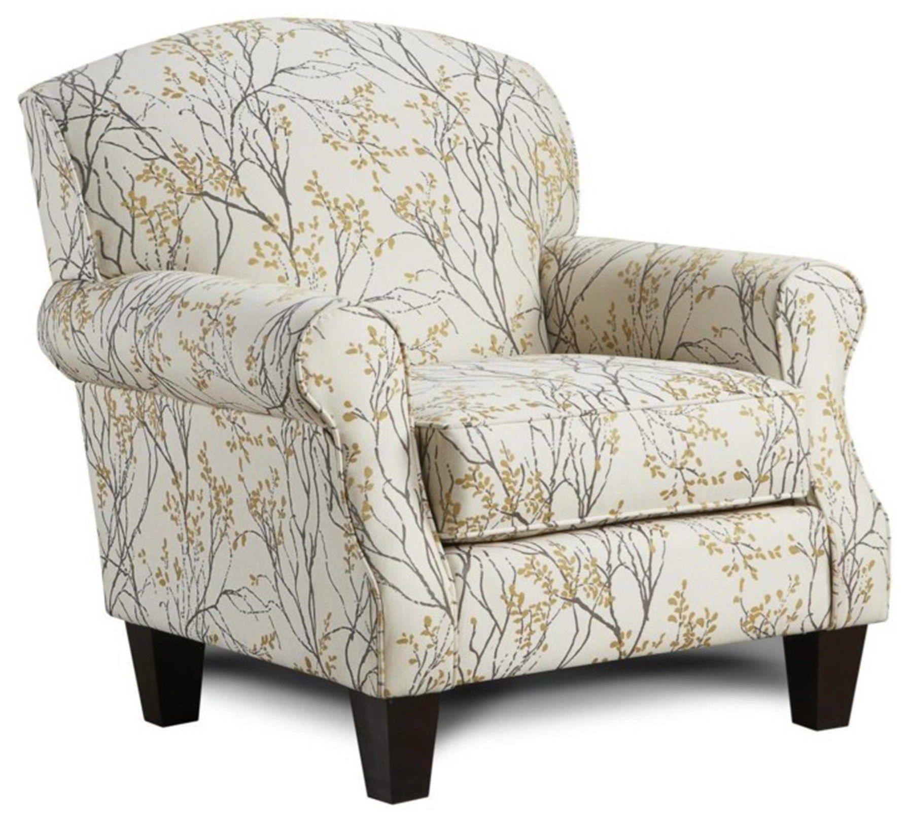 Boho Birch Myla Marigold Accent Chair By Fusion Furniture