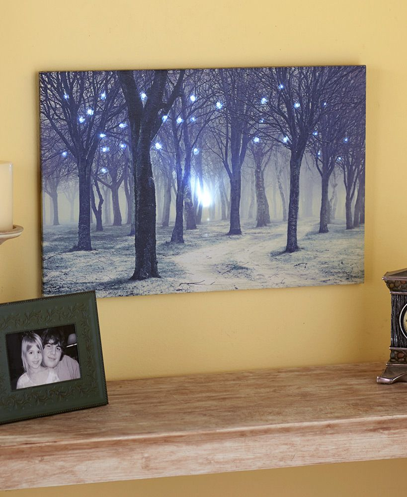 Lighted Treescapes Canvas Wall Art | LTD Commodities