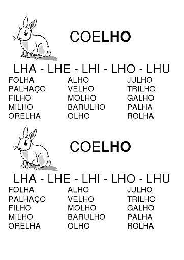 Dani Educar : fichas de leituras silabas complexas