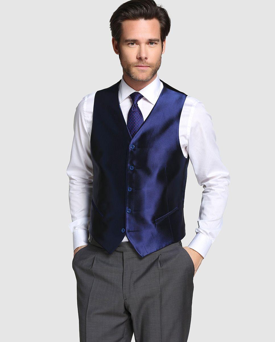 Emidio Tucci Chaleco de vestir hombre Ceremonia azul 03d1e6042e7d