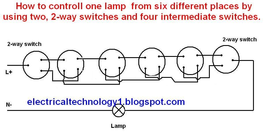 How To Control One Light Bulb From Six Different Places