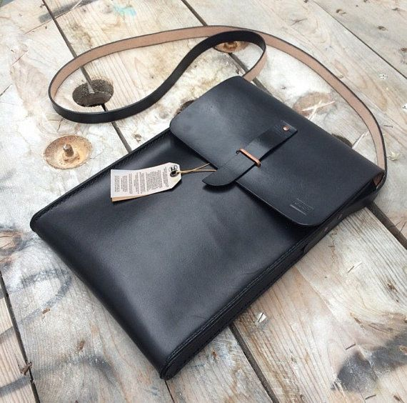 Handmade Leather Macbook Air Bag By Gushleather On Etsy