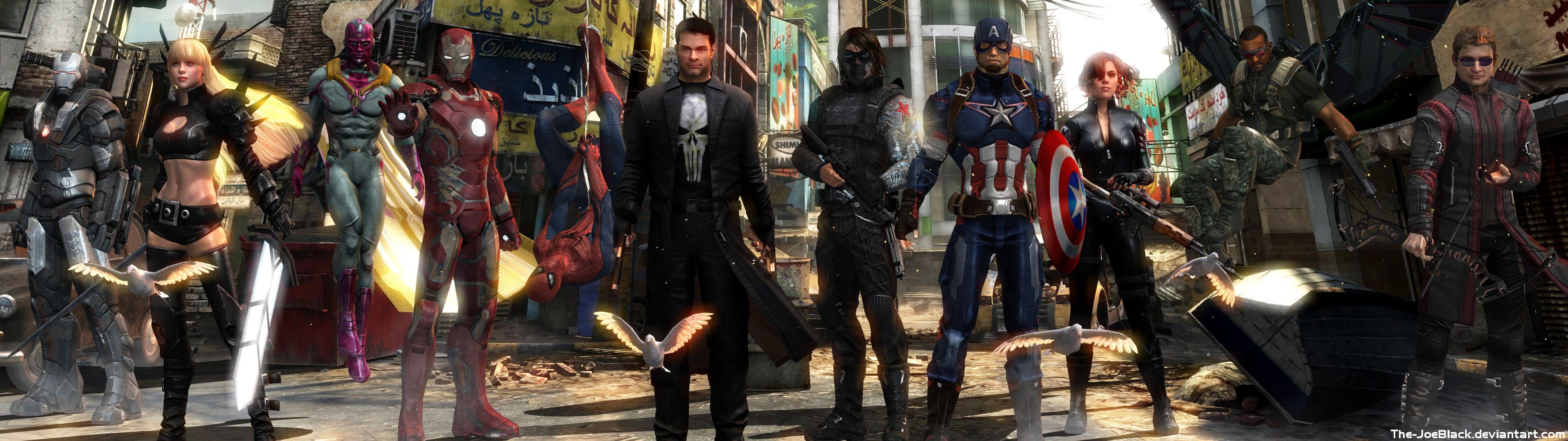 Avengers - Dual Screen Wallpaper by The-JoeBlack