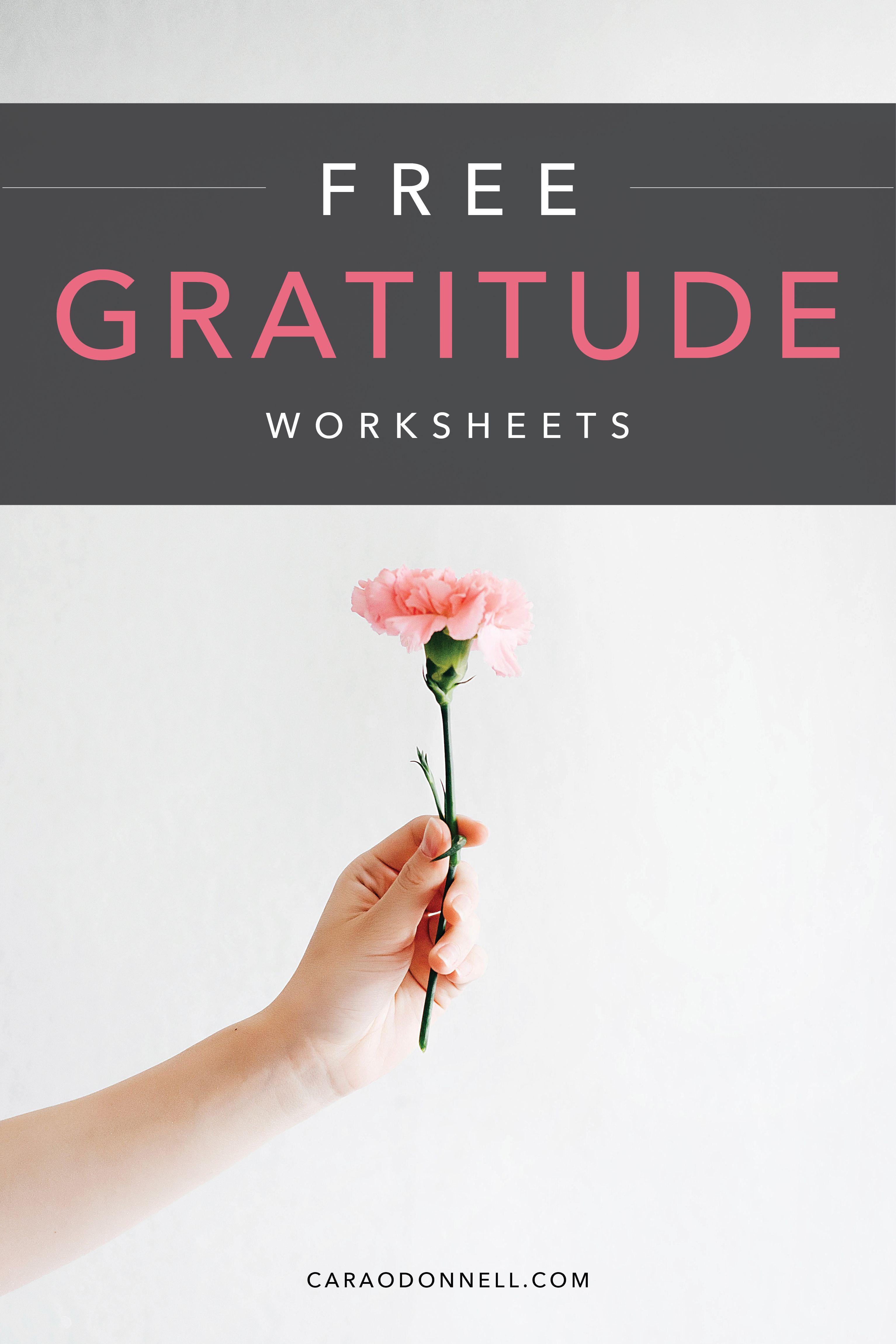 2 Free Gratitude Worksheets Gratitude Positivity