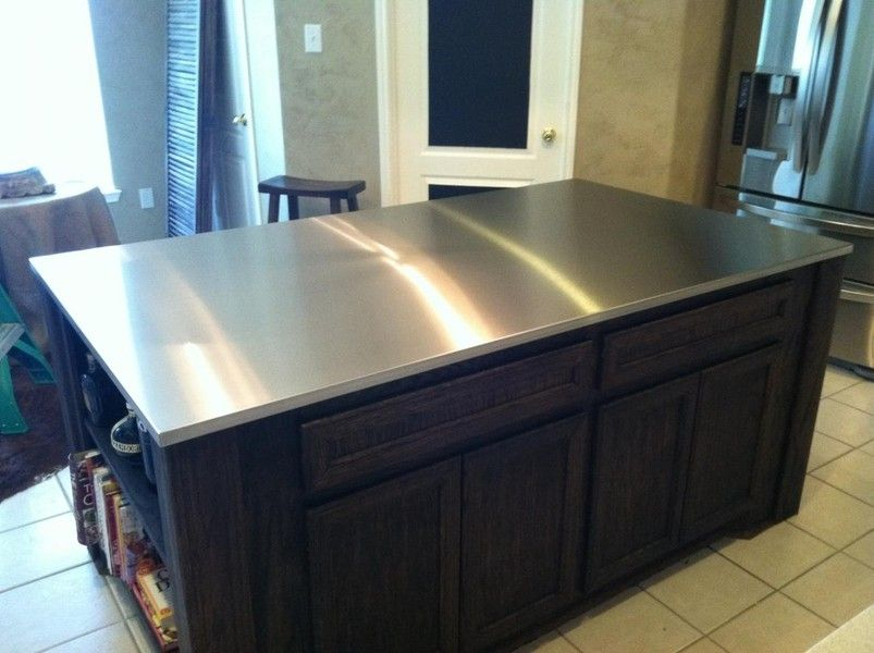 Brushed Stainless Steel Counter Top On Kona