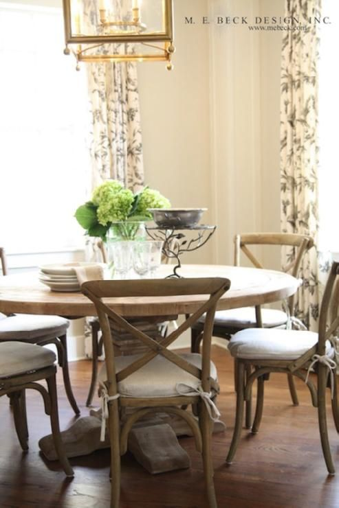 Captivating Round Restoration Hardware Dining Table U0026 Crisscross Chairs. Love!