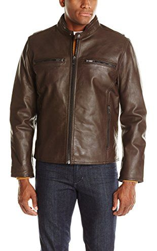 f54c8963646 Marc New York by Andrew Marc Men's Lamar Cow Leather Moto Jacket ...