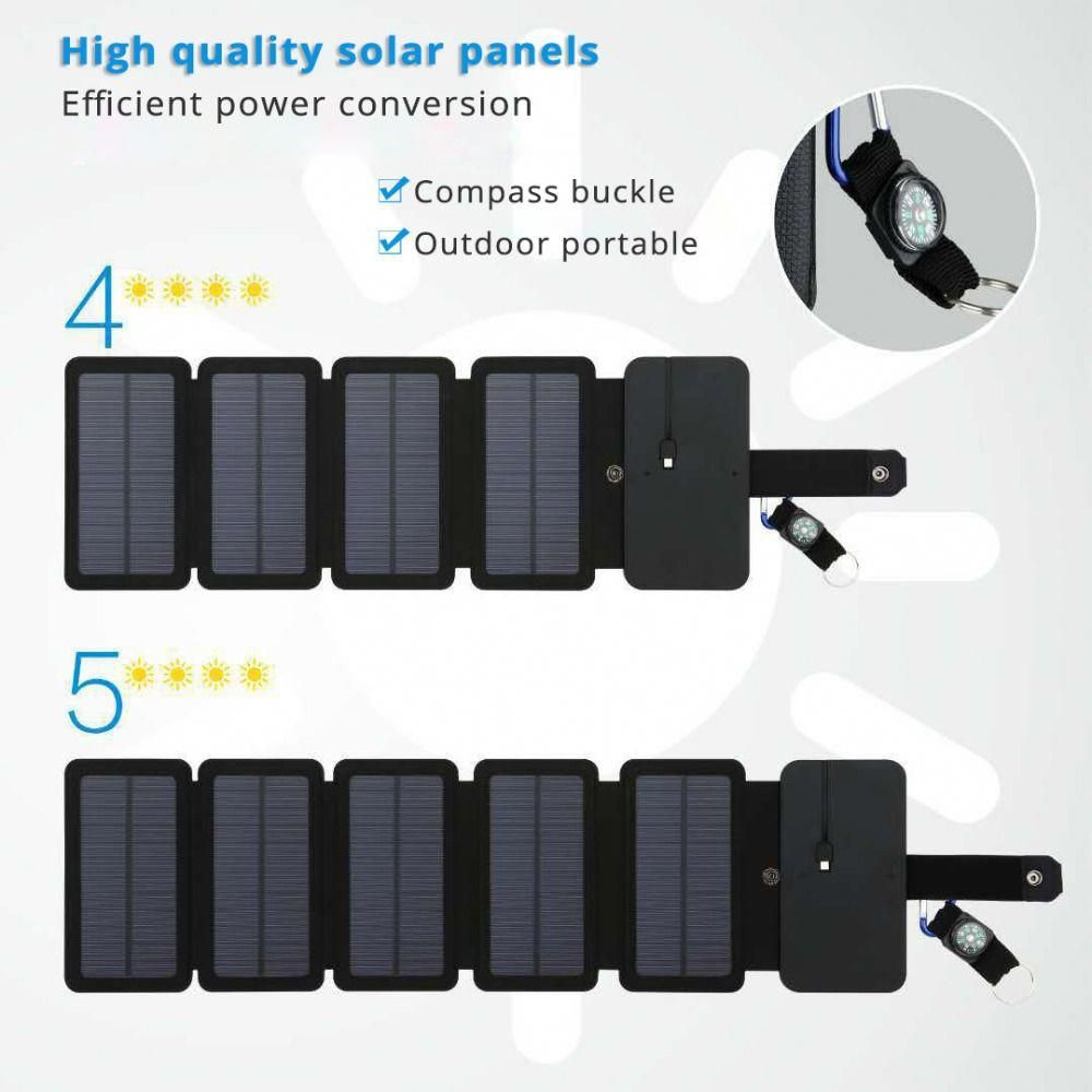 Portable Solar Panels Charger 10w 5v 2 1a Sunpower Foldable Solar Panel Charge Battery For Mobile Phone Outdoor Camping Solar Panel Charger Portable Solar Panels