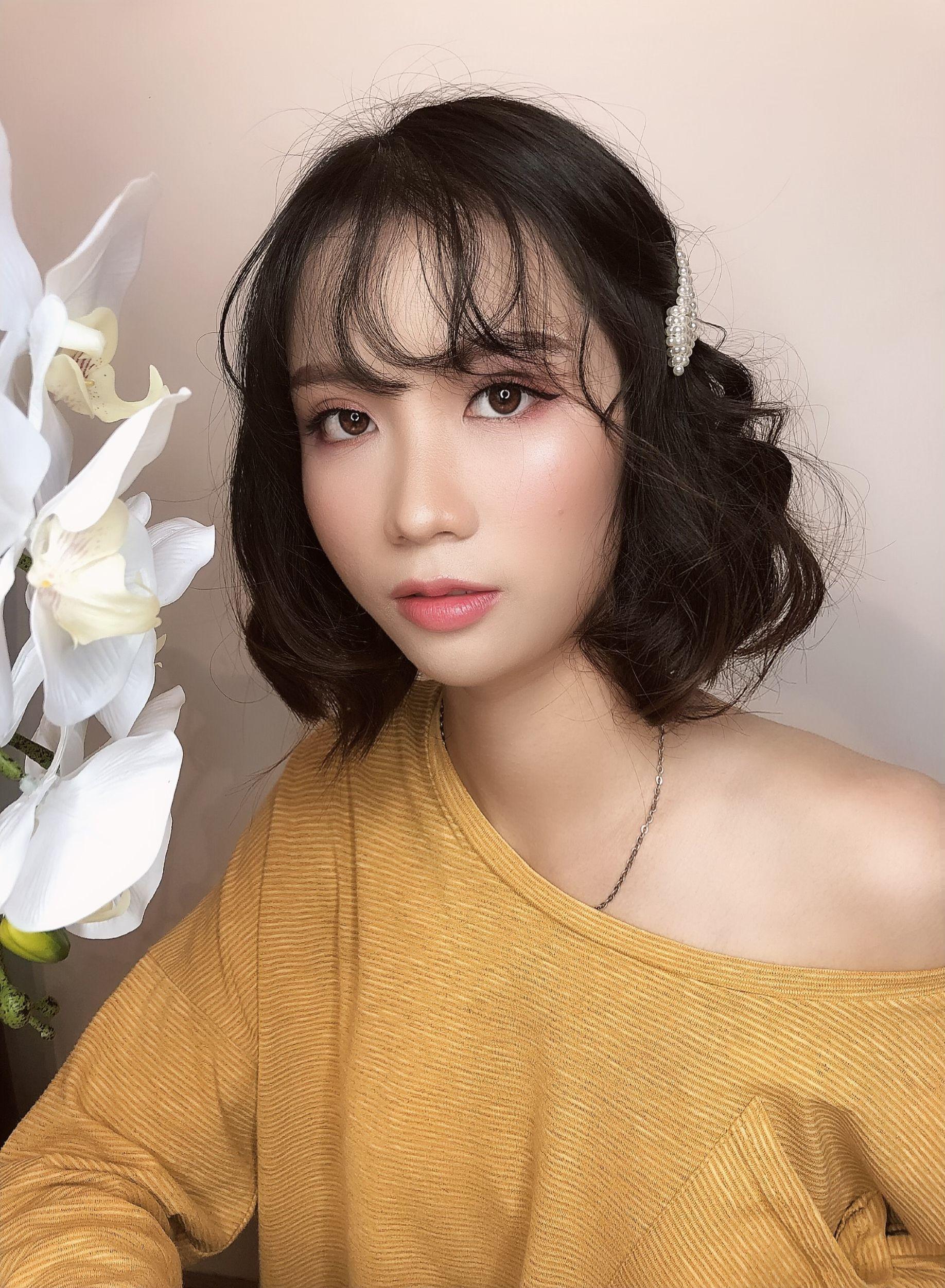 Makeup by Nhung Nguyen Korea pink n cute baby style