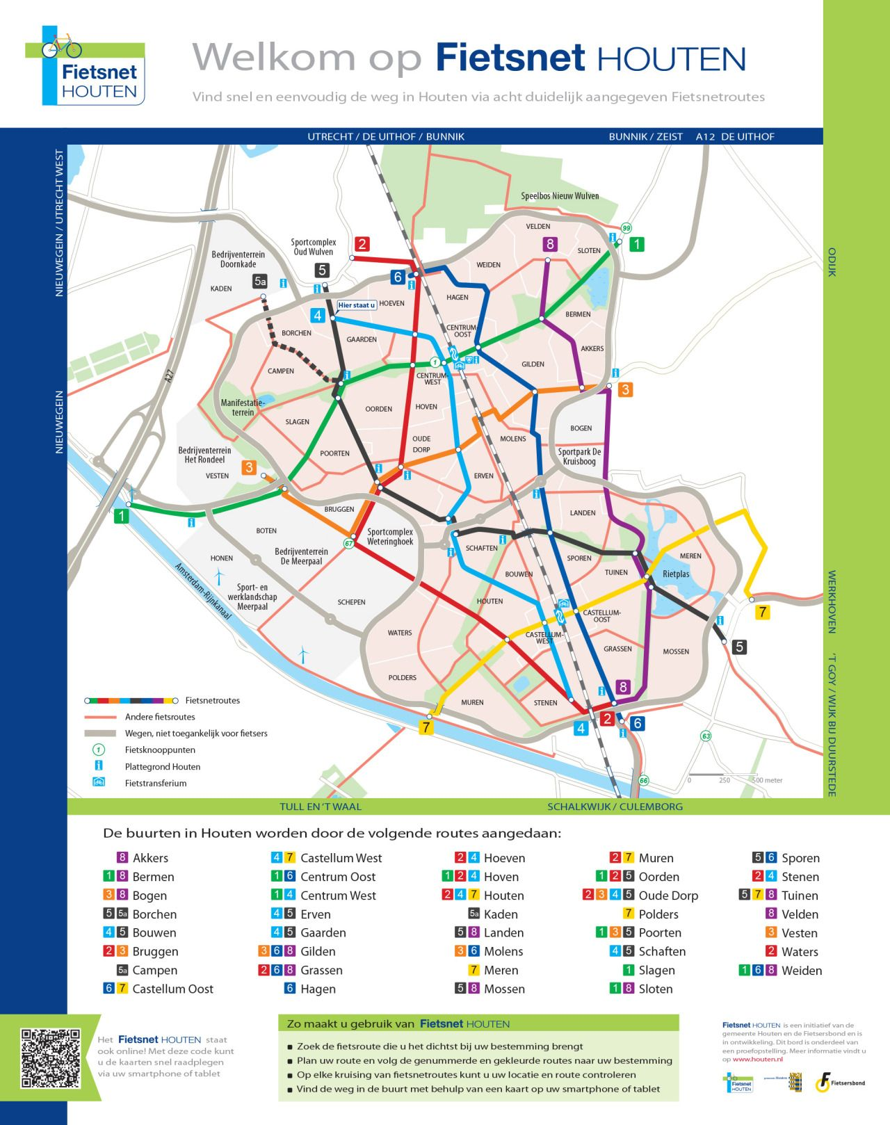 Official Map Bike Network Map of Houten The NetherlandsSubmitted