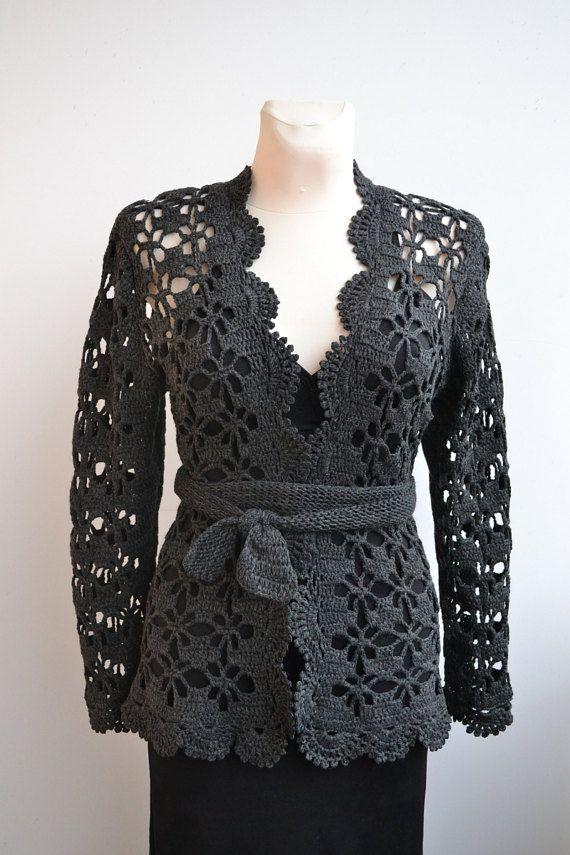 Crochet cardigan bolero sweater made to order wedding bridal crochet ...