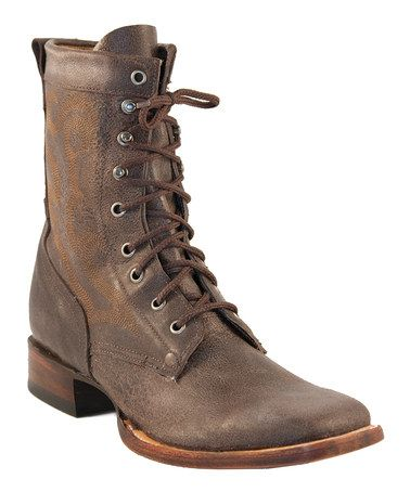 Take a look at this Chocolate Vintage Motorcycle Boot - Men by ...